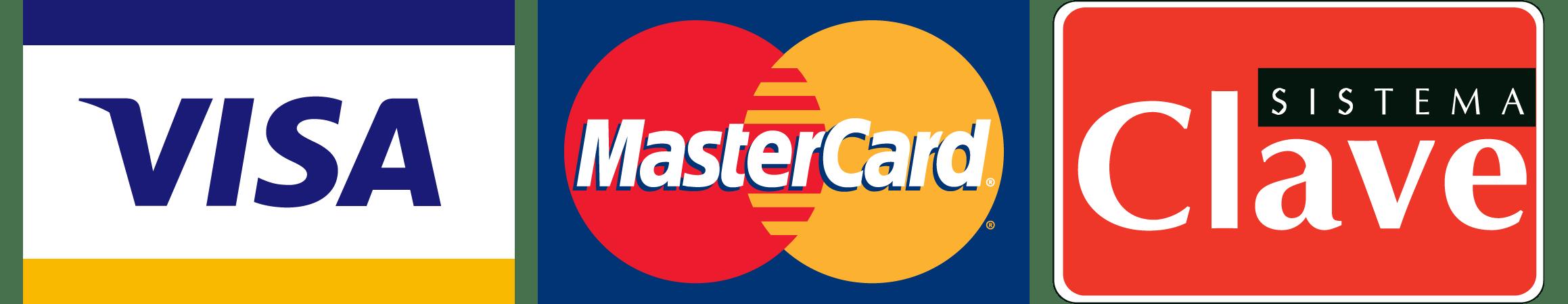 Aceptamos Visa Mastercard y Clave en nuestras sucusales